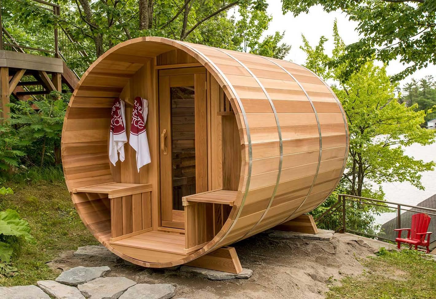 Colorado Sauna Exterior RH View
