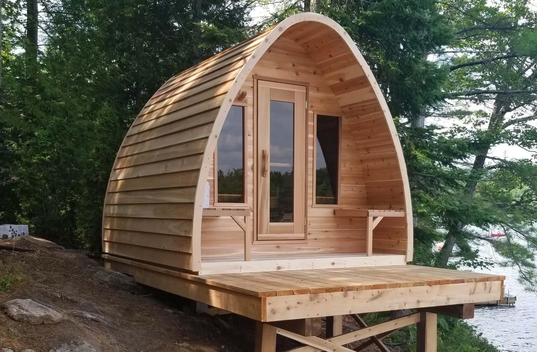 Hudson Sauna Exterior with Deck
