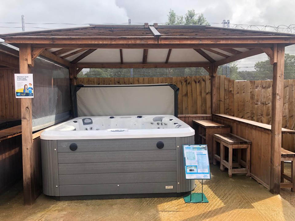 Vanda Hot Tub in Stock and on Display at Our Showroom in Findon West Sussex